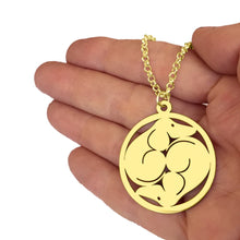 Load image into Gallery viewer, Dachshund Yin Yang Pendant Necklace - 14K Gold-Plated - WeeShopyDog