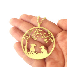 Load image into Gallery viewer, Dachshund Tree Of Life Pendant Necklace - 14K Gold-Plated - WeeShopyDog