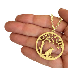 Load image into Gallery viewer, Jack Russell Pendant - 14K Gold-Plated - Tree Of Life - WeeSopyDog
