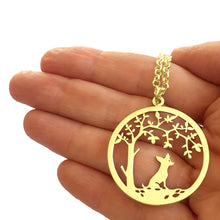 Load image into Gallery viewer, Chihuahua Little Tree Of Life Pendant Necklace - Silver/14K Gold-Plated - WeeShopyDog