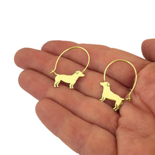 Load image into Gallery viewer, Jack Russell Earrings - 14K Gold-Plated - WeeShopyDog