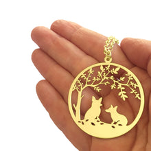 Corgi Tree Of Life - 14K Gold-Plated Pendant Necklace - WeeShopyDog