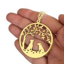 Load image into Gallery viewer, Jack Russell Pendant Necklace - 14K Gold-Plated - Tree Of Life - WeeSopyDog