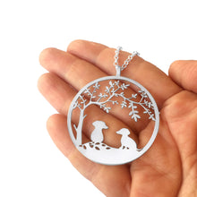 Load image into Gallery viewer, Dachshund Tree Of Life Pendant Necklace - Silver/14K Gold-Plated - WeeShopyDog
