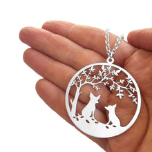 Load image into Gallery viewer, Chihuahua Tree Of Life Pendant Necklace - Silver/14K Gold-Plated - WeeShopyDog