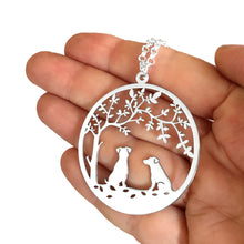 Load image into Gallery viewer, Jack Russell Pendant - Silver - Tree Of Life - WeeSopyDog