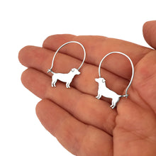 Load image into Gallery viewer, Jack Russell Earrings - Silver - WeeShopyDog
