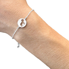 Load image into Gallery viewer, French Bulldog Charm Bracelet - Silver/14K Gold-Plated |Line Circle