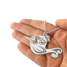 Load image into Gallery viewer, Boho Free Bird- Silver Pendant Necklace - WeeShopyDog