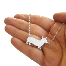 Load image into Gallery viewer, Corgi Pendant Necklace - Silver/14K Gold-Plated |Line - WeeShopyDog