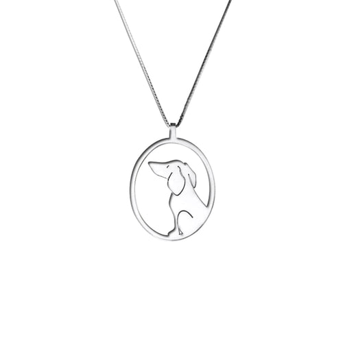 Dachshund Pendant Necklace - Silver/14K Gold-Plated |Image - WeeShopyDog