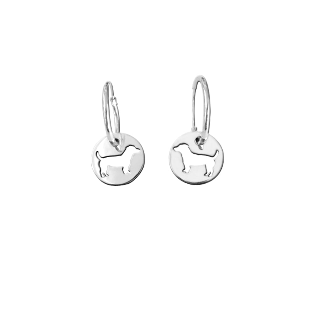 Jack Russell Earrings - Silver - WeeShopyDog