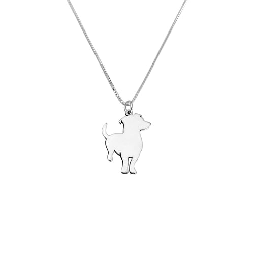 Jack Russell Pendant Necklace - Silver - WeeShopDog