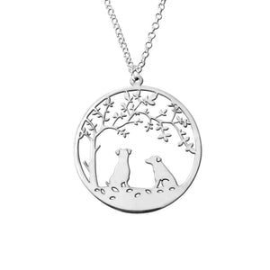 Jack Russell Pendant Necklace - Silver - Tree Of Life - WeeSopyDog