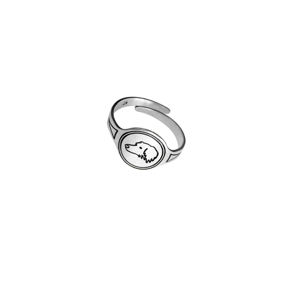 Dachshund Long Haired Ring - Silver - WeeShopyDog