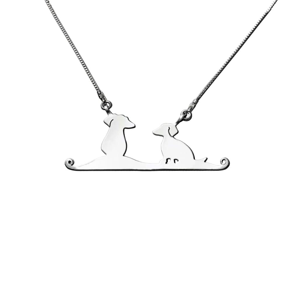Dachshund Pendant Necklace - Silver |Friends - WeeShopyDog