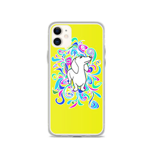 Dachshund Flower Color - iPhone Case