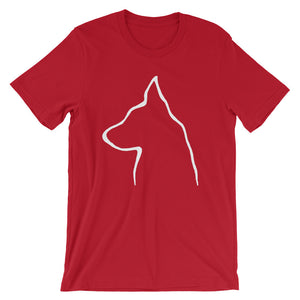 German Shepherd Outline - Unisex/Men's T-shirt - WeeShopyDog