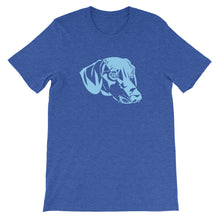 Load image into Gallery viewer, Dachshund Blue - Unisex/Men's T-shirt - WeeShopyDog