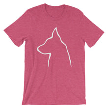 Load image into Gallery viewer, German Shepherd Outline - Unisex/Men's T-shirt - WeeShopyDog