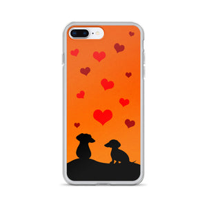 Dachshund In Love - iPhone Case - WeeShopyDog