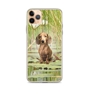 Dachshund Lotus - iPhone Case