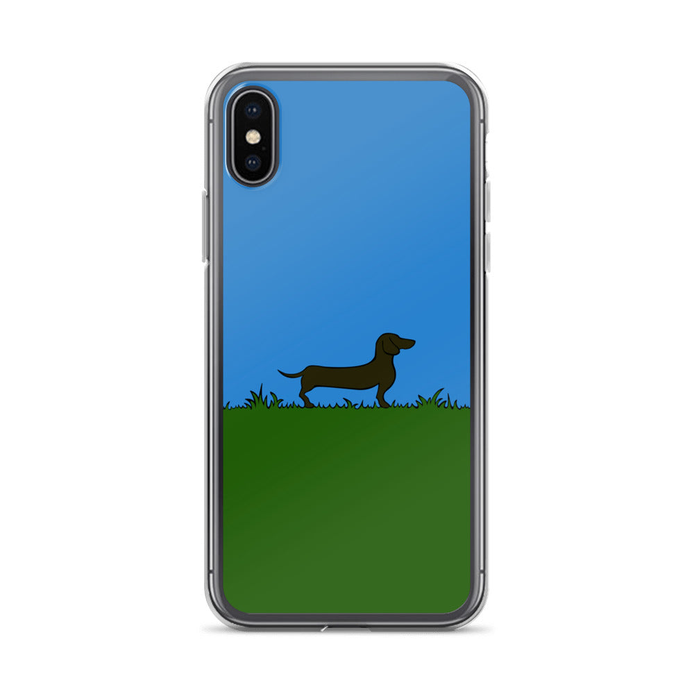 Dachshund Line Grass - iPhone Case - WeeShopyDog