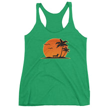Load image into Gallery viewer, Dachshund Palm Tree - Women's Tank Top - WeeShopyDog