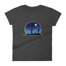 Load image into Gallery viewer, Dachshund Moon - Women's T-shirt - WeeShopyDog
