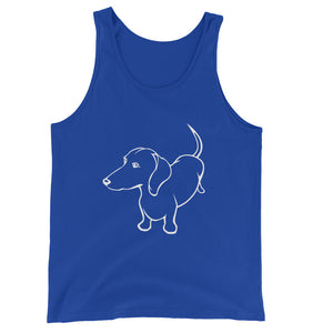 Dachshund Up - Unisex/Men's Tank Top - WeeShopyDog