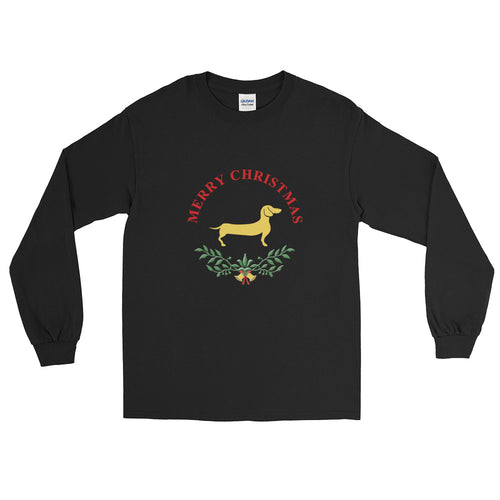 Dachshund Merry Christmas II - Long Sleeve T-Shirt - WeeShopyDog