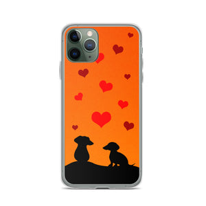 Dachshund In Love - iPhone Case