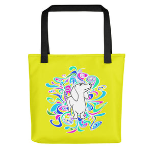 Dachshund Flower Color - Color Tote Bag - WeeShopyDog