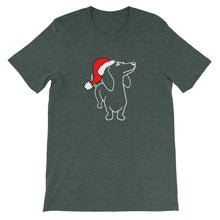 Load image into Gallery viewer, Dachshund Christmas Santa - Unisex/Men's T-shirt - WeeShopyDog