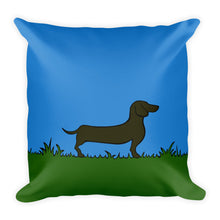 Load image into Gallery viewer, Dachshund Line Grass - Square Pillow - WeeShopyDog