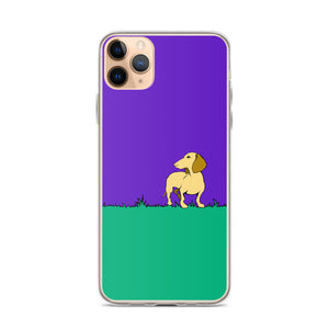 Dachshund Beauty Grass - iPhone Case