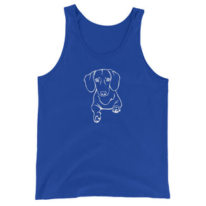 Dachshund Play - Unisex/Men's Tank Top - WeeShopyDog
