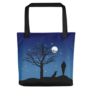 Dachshund Moon - Color Tote Bag - WeeShopyDog