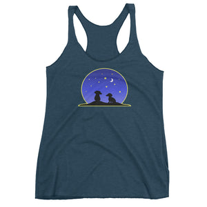 Dachshund Night Love - Women's Tank Top - WeeShopyDog