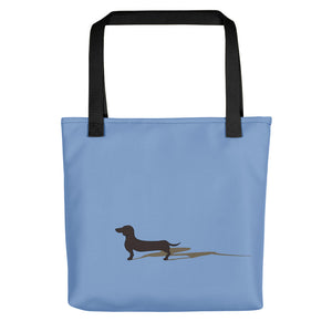 Dachshund Shadow - Color Tote Bag - WeeShopyDog