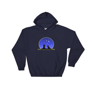 Dachshund Night Love - Hooded Sweatshirt - WeeShopyDog