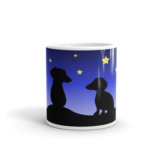 Dachshund Night Love - Mug - WeeShopyDog