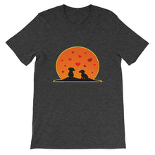 Load image into Gallery viewer, Dachshund In Love - Unisex/Men's T-shirt - WeeShopyDog