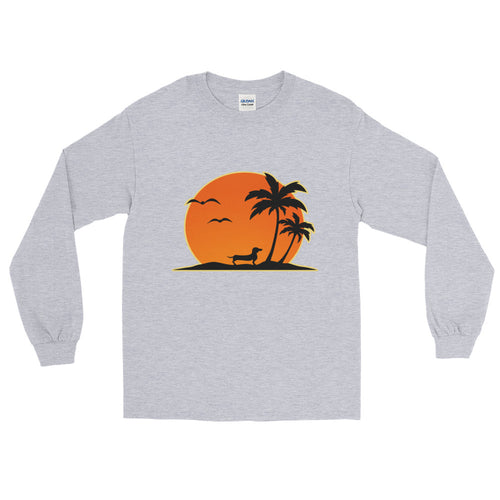 Dachshund Palm Tree - Long Sleeve T-Shirt - WeeShopyDog