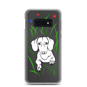 Dachshund Play Grass - Samsung Case