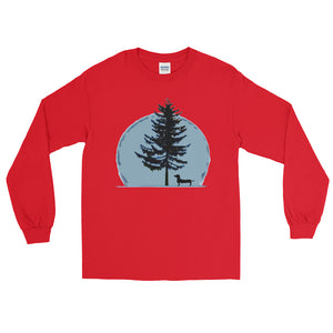 Dachshund Christmas Tree - Long Sleeve T-Shirt - WeeShopyDog