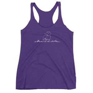 Dachshund Beauty Grass - Women's Tank Top - WeeShopyDog