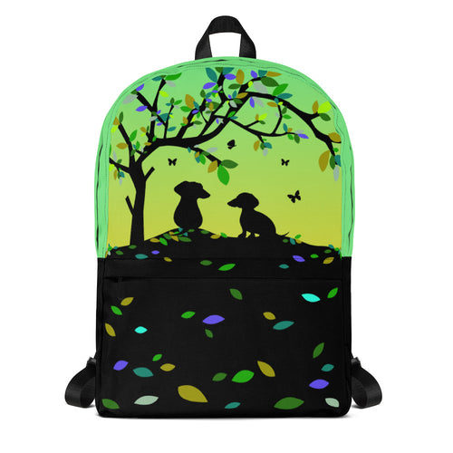 Dachshund Tree Of Life - Backpack - WeeShopyDog