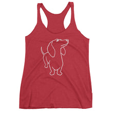 Load image into Gallery viewer, Dachshund - Women's Tank Top - WeeShopyDog