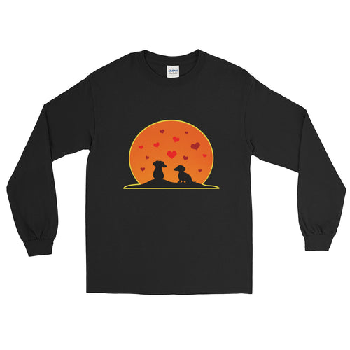 Dachshund In Love - Long Sleeve T-Shirt - WeeShopyDog